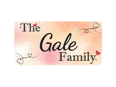 WP_FAM_366 The Gale Family - Metal Wall Plate