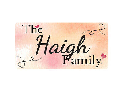 WP_FAM_410 The Haigh Family - Metal Wall Plate