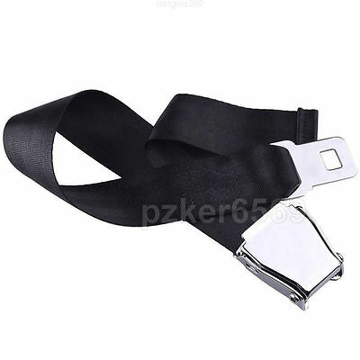 Universal Airplane Seat Belt Extender Airline AirCraft Metal Buckle Extension UK