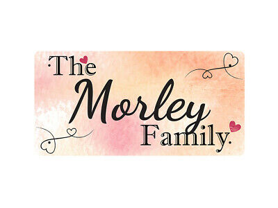 WP_FAM_679 The Morley Family - Metal Wall Plate