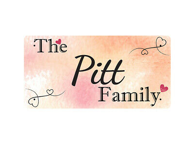 WP_FAM_743 The Pitt Family - Metal Wall Plate