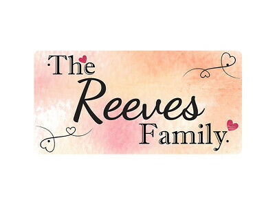 WP_FAM_781 The Reeves Family - Metal Wall Plate