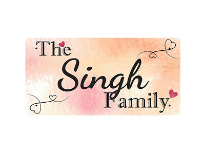 WP_FAM_858 The Singh Family - Metal Wall Plate