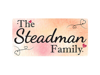 WP_FAM_876 The Steadman Family - Metal Wall Plate