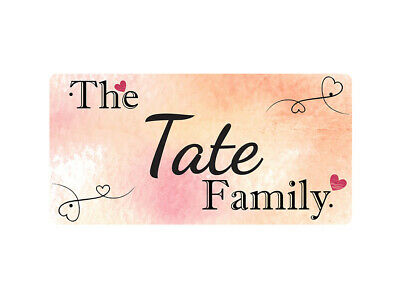 WP_FAM_902 The Tate Family - Metal Wall Plate