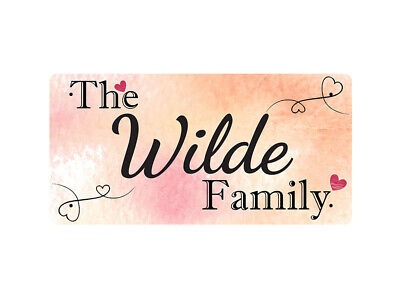 WP_FAM_979 The Wilde Family - Metal Wall Plate