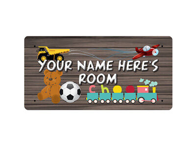 WP_ROOM_001 YOUR NAME HERE'S ROOM - Metal Wall Plate