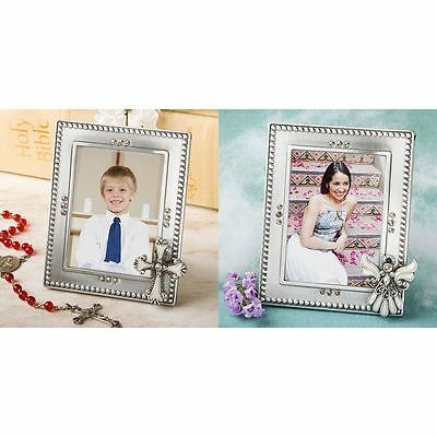 6 Angel or Cross Picture Photo Frames Baby Showers Christening Favors Gifts