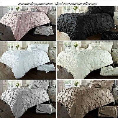 Alford Duvet Cover with Pillowcase Quilt Cover Bedding Set Single Double King
