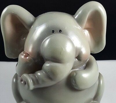 Elephant Piggy Bank Clay Pottery Nursery Figurine