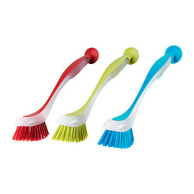 IKEA PLASTIS Washing-Up Dish Brushes With Suction Cup With Colour Choice