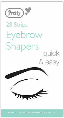 Pretty Eyebrow Shapers (28 Strips) - Smooth Finish Hair Removal Wax Strips