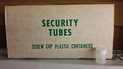 100 Round Half Dollar Coin Tubes, Security Opaque White, 50c, New, Free Shipping