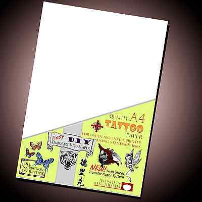 New Temporary Tattoo Transfer Paper - Movie fx - DIY Inkjet Waterproof Tattoos