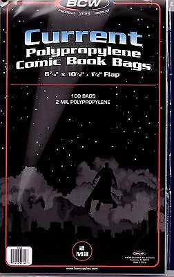 100- BCW Current Comic Book Bags - Sleeves