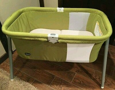 Chicco Lullago Travel Portable Foldable Bassinet Crib Carry Bag Pistachio Green
