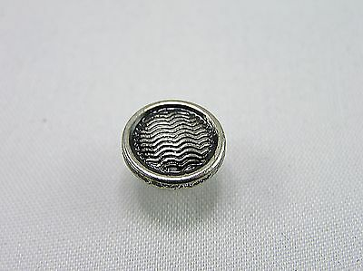 Punk Rivets Chicago Screw Round Wavy Design Antique Silver 12x12mm