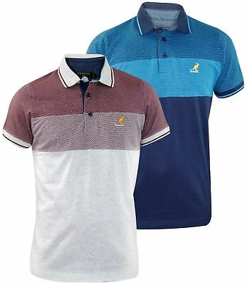 cd51d07e Heren: kleding Mens Kangol Brand Polo T Shirt Contrasted Designer Top Self  Patten Fabric