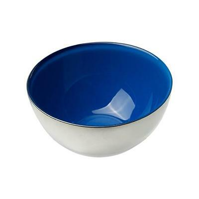 MoMo Panache 807242 Condi Bowls Silver with Sapphire Blue inner pair