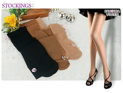 3 Packs VIVIEN Pantyhose Stockings High Quality Support Compression Socks Tight