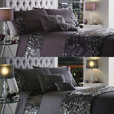 Luxury Sequin Duvet Quilt Cover Bedding Set Dazzle