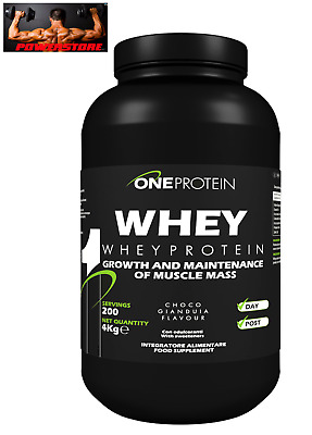 One Protein Whey 4 Kg - Proteine Concentrate Siero Del Latte Ultra Filtrate