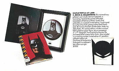 Batman Collected Rare Ltd. Ed. WB Studio Store Signed Bruce Timm Litho & Plate