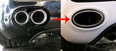 Audi R8 (V8) - V8-to-V10 Style Big Oval Exhaust Tailpipe Tip Conversion Kit