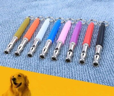Dog Puppy Pet Whistle Ultrasonic Pitch Sound Adjustable Key Chain Training Gift