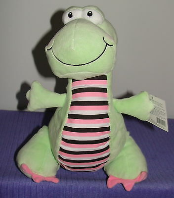 """Ganz Baby Dino With Inner Rattle Bg2205 New With Tags 11"""" Tall ~ Di"""