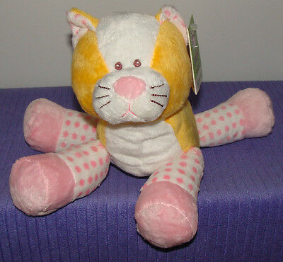 """Ganz Dotty Kitty With Inner Rattle Bg2439 New With Tags 9"""" Tall ~ Di"""