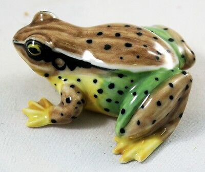 Colorful Frog Ceramic Handmade Figurine Amphibians Mini Animal Craft Home Decor