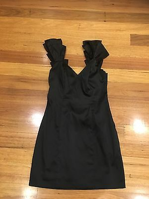 Seduce Myer Dress Size 8 Black Formal Race Parties Casual Very Good