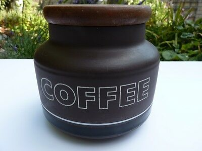 1970's Hornsea Contrast Coffee Storage Jar with Original Wood Lid