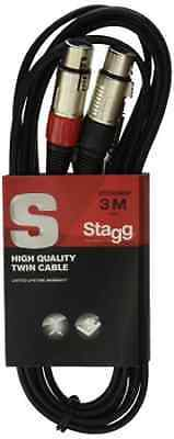 Stagg STC3CMXF 3m S Series Twin RCA Male to Twin XLR Female Cable