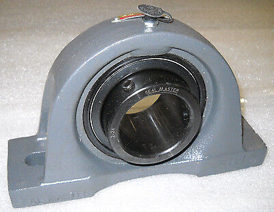 "Sealmaster Np-36 Pillow Block Bearing Shaft 2-1/4"" Flange Np36 New"