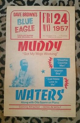 "MUDDY WATERS 1957 Concert Poster ~ ""Repro"" From 1990"
