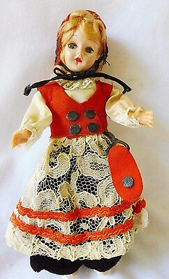 "Vintage (early1960's) Carlson Norwegian Doll 8"" Good Condition #8-46 Sleepy Eyes"