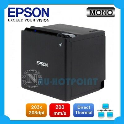 Epson TM-M30 Direct Thermal Ethernet POS Receipt Printer (BLACK) P/N:C31CE95222