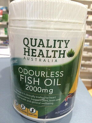 FISH OIL 2000MG 200 Odourless capsules omega-3 100% AUSTRALIAN MADE >>HOT DEAL!!