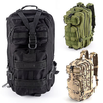 30L Large MOLLE Assault Pack Backpack/Rucksack Military Cadet Army Luggage Bag