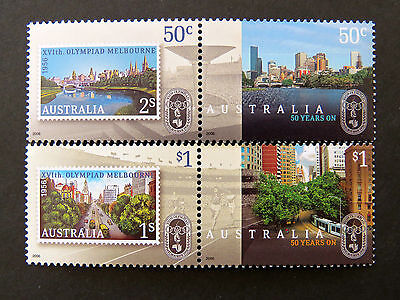 Australian Decimal Stamps: 2006 50 Years on-The Melbourne Olympics-Set of 4 MNH
