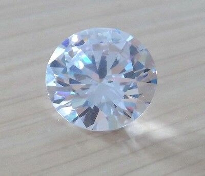20mm White Sapphire 45.87ct AAAAA Round Shape Faceted Cut VVS Loose Gems
