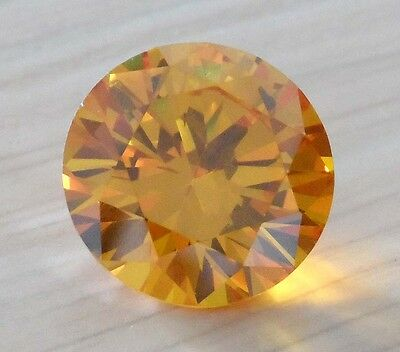 20mm Yellow Sapphire 48.68ct AAAAA Round Shape Faceted Cut VVS Loose Gems