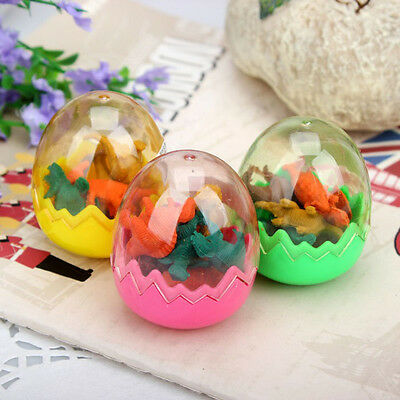 16pcs Funny Mini Dinosaurs Pencil Rubber Erasers Students Stationery Gifts