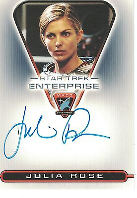 Star Trek Enterprise: MAC04 Julia Rose (McKenzie) autograph