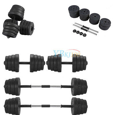 20/30kg Dumbbell Set Bar Dumbbells Home Gym Fitness Free Weights Barbell Bar UK