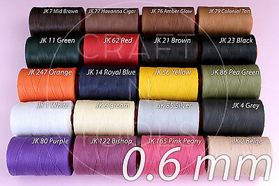0.6mm RITZA 25 Tiger Sewing Waxed Thread. Leather Hand Sewing. Julius Koch