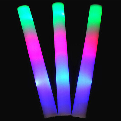 1/5/12 tlg LED Party Stick 48cm Leuchtstab Schaumstoff Party Glowstick Konzert