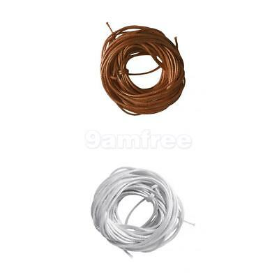 2x Waxed Nylon Macrame Cord Thread Jewelry Beading Making String Crafts 1.5mm